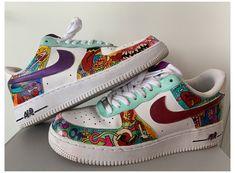 All Nike Shoes, Nike Shoes Air Force, White Nike Shoes, Hype Shoes, E Skate, Painted Sneakers, Jordan Shoes Girls, Baskets, Custom Shoes