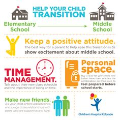 Help your child with the transition from elementary school to middle school.