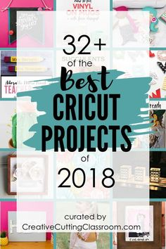 Best Cricut Projects from 2018 Best Cricut Projects Over 30 of the best Cricut projects of A roundup of the best fabric Cricut projects, flower Cricut projects, adhesive vinyl Cricut projects, HTV Cricut projects, and paper Cricut projects. Cricut Air 2, Cricut Help, Cricut Vinyl, Cricut Stencils, Cricut Monogram, Cricut Fonts, Cricut Tutorials, Ideas For Cricut Projects, Craft Ideas