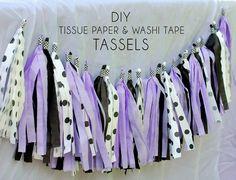 Diy Tassel  : DIY Tassel Banner with Washi Tape