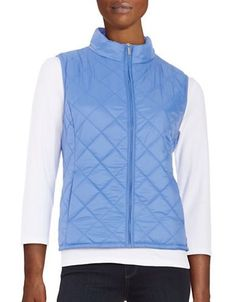 Imnyc Isaac Mizrahi Quilted Puffer Vest Women's Blue X-Small