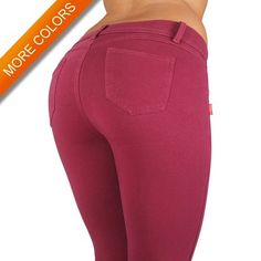 1118 - Basic Skinny Leg Cotton Jeggings Pants