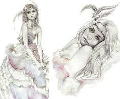 Fashion Illustration combined with Adobe Illustrator