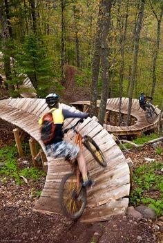 Copper Harbor, Michigan, bike trail: it's like a roller coaster on bikes!