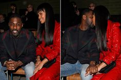 Idris Elba can't keep his hands off his new fiancée at London Fashion Week