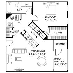Guest House/in Law Suite Floor Plan. Kids, Make A Note: I Will Be Happy To  Have A Space Like This With You!
