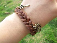 Men or Women Soft Leather Bracelet with Skull by braceletcool, $6.50