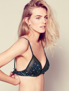 Floral Sweetheart Triangle Bra at Free People Clothing Boutique