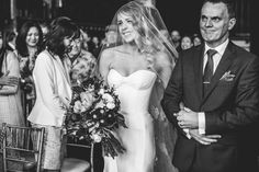 RACHAEL + CHARLES settled on an industrial, inner-city wedding - combining rustic lighting, berry-toned bouquets and gold accents to transform their Brisbane Powerhouse ceremony.   Rachael found her perfect dress with KAREN WILLIS HOLMES, the BESPOKE Prea gown and styled it with a custom veil.   (photographed by Kait Photography)  Follow: @KWHBridal