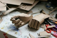 adidas originals handcrafted out of cardboard by chris