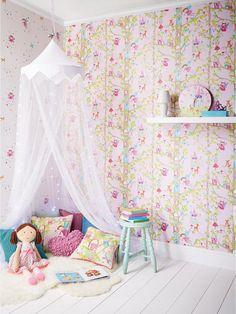 ARTHOUSE Woodland Fairies Glitter Wallpaper Veryco