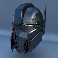 3d+max+robot+futuristic+helmet