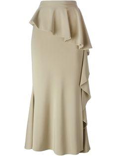 Givenchy длинная юбка с оборками