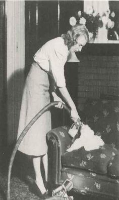 """One of the unique features of a Kirby home care system is the portable sprayer - or """"Suds-O-Gun"""" as it was called in 1950. Follow The Kirby Company on Pinterest to learn more about our history, vacuums and cleaning products!"""