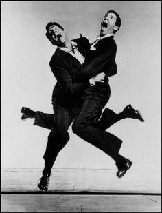 Dean Martin and Jerry Lewis, 1951.  © Philippe Halsman / Magnum Photos