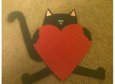 "Splat the Cat craftivity to go along with ""Love Splat"" for Valentine's Day"
