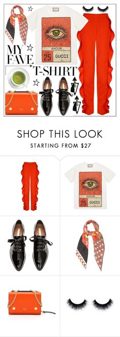 """""""Dress Up a Tee Shirt (TFS)"""" by pat912 ❤ liked on Polyvore featuring Gucci, H&M, Mulberry, polyvoreeditorial and MyFaveTshirt"""