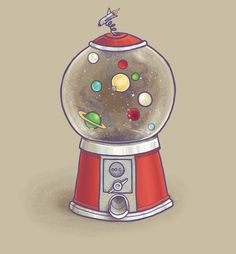 Galactic Gumtastic- An intergalactic gumball machine. By Mathijs Vissers