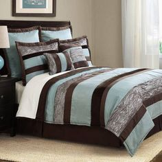 Aqua Chocolate Bedding by Bed Ink