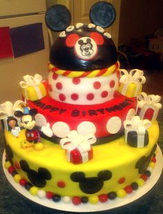 My Mickey mouse cake creation!