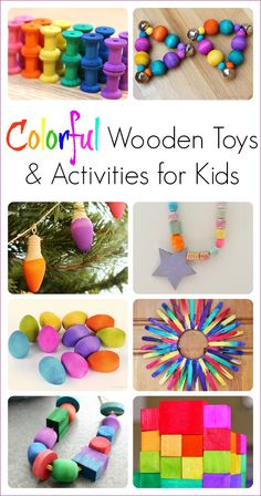 A beautiful collection of colorful DIY toys and activities to make with kids!