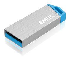 miniMetallic mini USB flash drive, front 3/4 - 32GB #EMTEC #FlashDrive Usb Flash Drive, Mini, Usb Drive