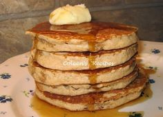 These are absolutely the best home made pancakes we have ever eaten!! They are super tall, light and fluffy and yet they don't get all mushy...
