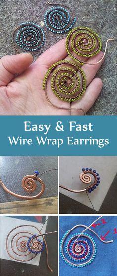 Tutorial: Wire Wrap Earrings   Wire wrap начинающим: простые, но эффектные серьги в стиле этно