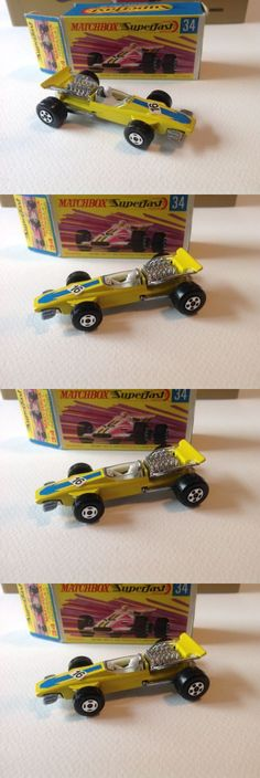 Vintage Manufacture 180507: Matchbox Superfast #34 Formula 1 Racing Car, Yellow - Factory Fresh- Mint! -> BUY IT NOW ONLY: $35 on eBay!