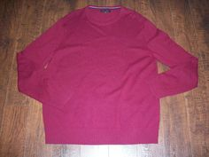 BANANA REPUBLIC  LONG SLEEVE WOOL BLEND RED SWEATER, SZ XL. GREAT CONDITION! #BananaRepublic #Crewneck