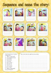 English worksheet: Sequence the story