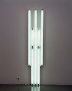 "Dan Flavin: ""Monument"" for V. Cool Things To Build, Dan Flavin, Hirshhorn Museum, Lights Artist, Lighting Solutions, Lighting Ideas, Lamp Bulb, Light Installation, Land Art"