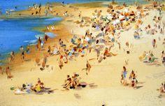 Beach by Lisa Milroy Lisa Milroy, Activities, Beach, People, Sports, Painting, Art, Hs Sports, Art Background