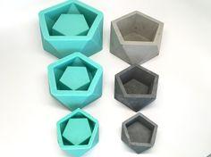 Gran icosaedro II plantador  Slicone  geométrica molde