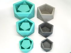 Medium Icosahedron II Planter Mold  Slicone  от Edgehill3D на Etsy