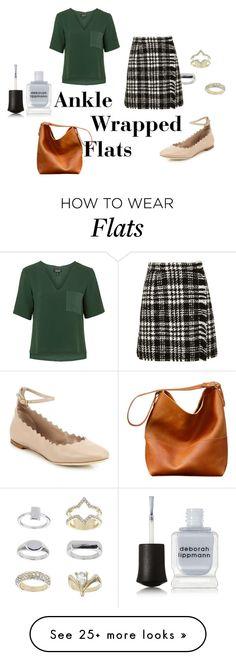 """Ankle Wrap Flats"" by kristenleighw on Polyvore featuring moda, Topshop, Deborah Lippmann, Chloé, Dolce&Gabbana e anklewrapflats"