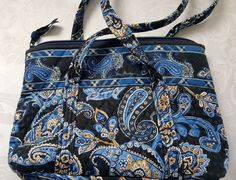 Vera Bradley Windsor Navy Mini Tote Purse Handbag Retired #VeraBradley #MiniTotePurse