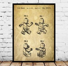 Lego Poster, Lego Figure Patent, Lego Blueprint, Lego Figure Art, Lego Print, Lego Decor, Lego Artwork, Lego kids room Decor, Legoman by STANLEYprintHOUSE  0.79 USD  Lego Poster, Lego Figure Patent, Lego Blueprint, Lego Figure Art, Lego Print, Lego Decor, Lego Artwork, Lego kids room Decor, Legoman  This is a vintage patent print. The Lego Figure from 1979.  This poster is printed using high quality archival inks, and will be of museum quality. A ..  https://www.etsy.com/ca/listing..