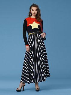 DVF high waisted maxi skirt