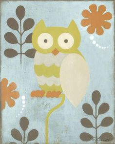 Hootie Owl Stretched Canvas