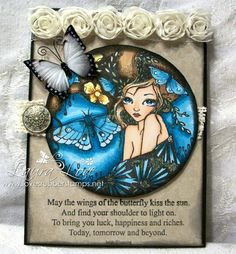Loves Rubberstamps Blog - Sensational Sunday Blog Hop Project - Using Sweet Pea Stamps - Ching-Chou Kuik - The Moth