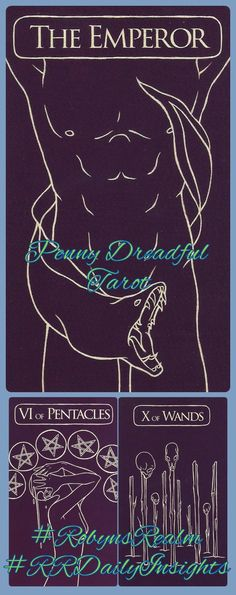 #Penny_Dreadful_Tarot #Emperor #Pentacles #Wands  Team work and commitment, want to be a part of it then  **Find me on #Tsu  Click on this link https://www.tsu.co/RobynsRealm  #RRDailyInsight #RobynsRealm #RobynDMartland #Robyn #Tarot #Oracle #Animal_Speak  #Pictish #Runes #Readings #HandMade #CustomOrders #DreamCatchers #Jewellery #Photography #Middlewich #Cheshire