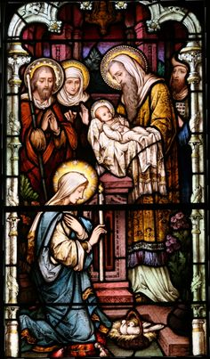 Forty days after Jesus was born, the Holy Family travelled to Jerusalem, where they presented the baby to the Lord in the Temple. Description from spiritualdirection.com. I searched for this on bing.com/images