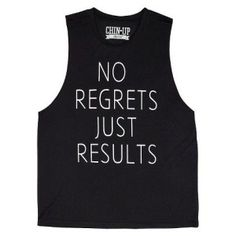 No Regrets Just Results Perfect black tank top for working out, loose fit, at Target