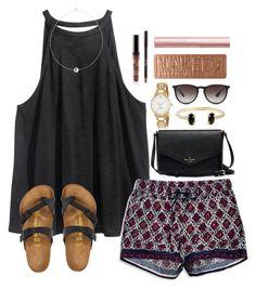 #summer #outfits / Black Halter + Printed Shorts