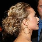 curly long hair style for prom