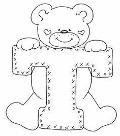 Applique Alphabet with bears