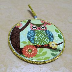 Art Print Drink Coasters Set of 4 Ceramic Placemats Cup Drinks Holder Mats Owls | eBay