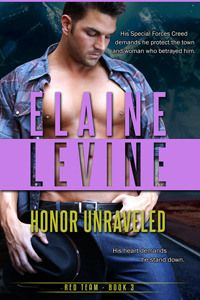 ARC Review of Honor Unraveled (Red Team #3) by Elaine Levine, great romantic suspense series
