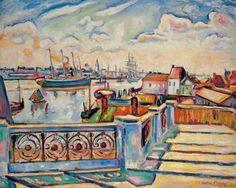 Christie's Large Image     Othon Friesz (1879-1949)  - LE PORT D'ANVERS